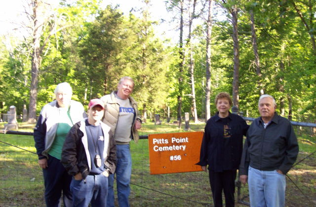 Cemetery Committee at Pitts Point